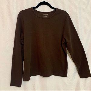 Brown long sleeved shirt women's